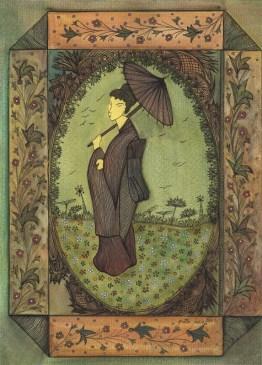 Femme à l'ombrelle