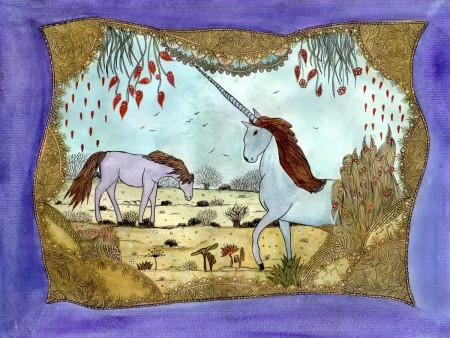 La licorne et le cheval