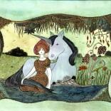 La licorne et la jeune fille