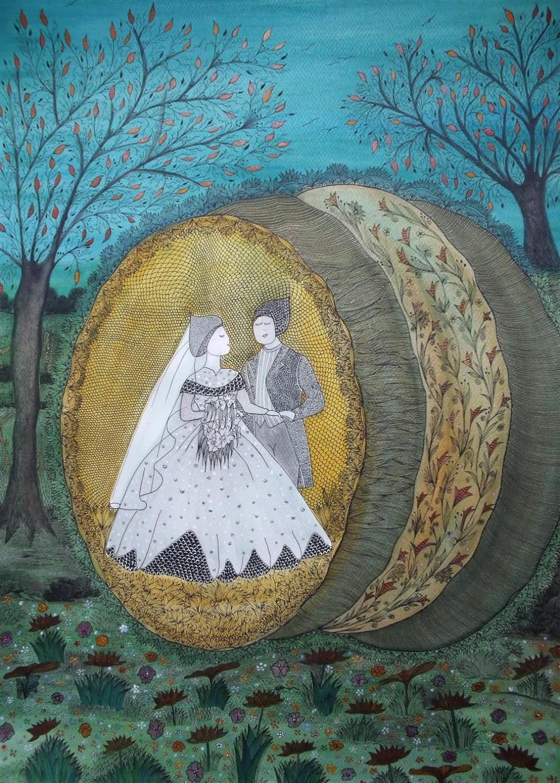 MARIES Aquarelle et encre de chine - 70 x 50 - 2016 (3)