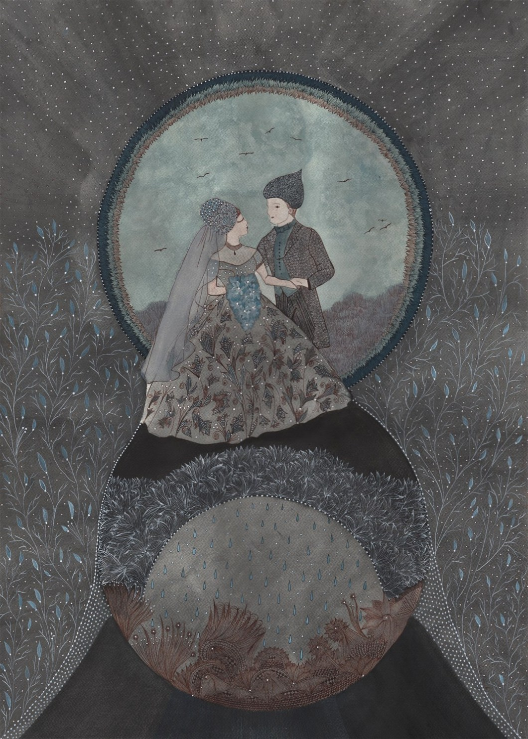 MARIES Aquarelle et encre de chine - 70 x 50 - 2016 (5)